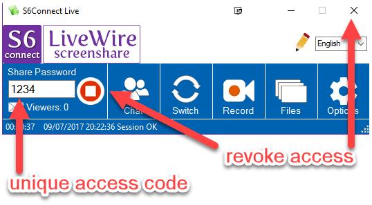 LiveWire app panel