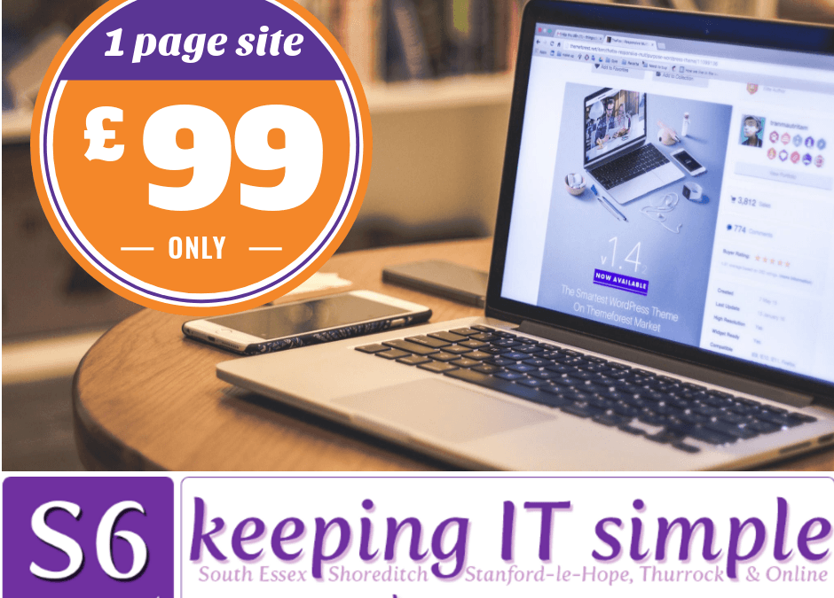 1-page website £99